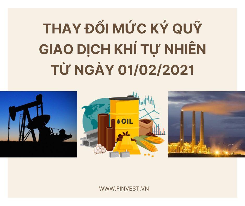 Mức ký quỹ giao dịch khí tự nhiên