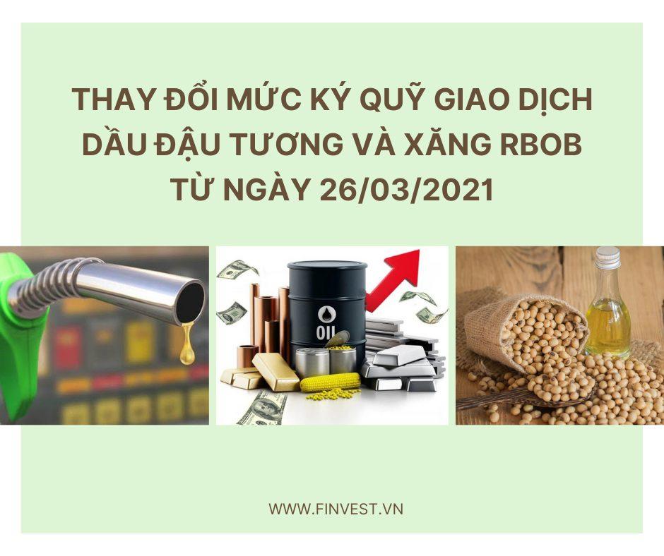 Mức ký quỹ giao dịch dầu đậu tương
