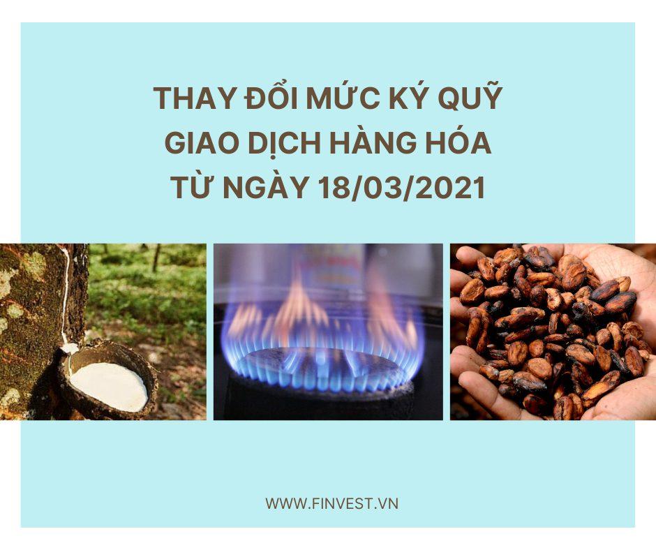 Mức ký quỹ giao dịch khí tự nhiên, cacao và cao su RSS3